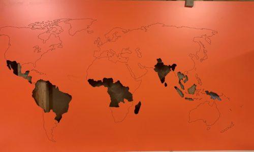 Mappe Monde orange compact